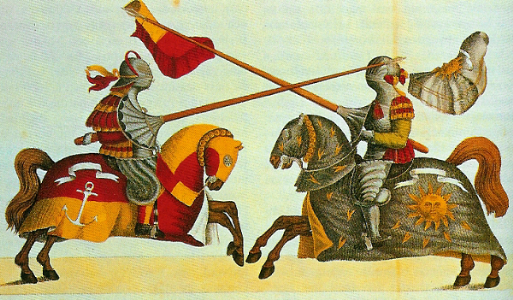 Jousting: A game during the medieval era